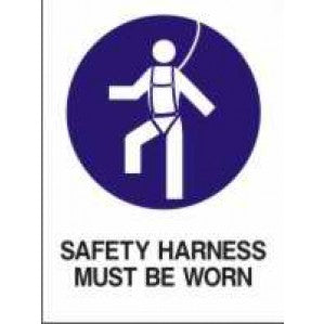MA36 Signs of Safety Mandatory Safety Harness Must Be Worn sign