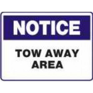 N727 Signs of Safety Notice tow away area signs