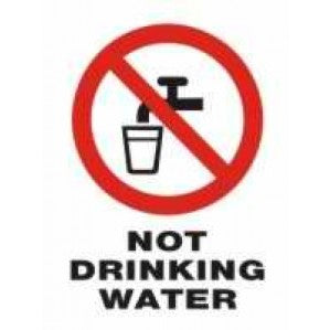 PR03 Signs of Safety Prohibition Not Drinking Water sign