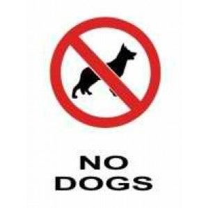 PR14 Signs of Safety Prohibition No Dogs Sign