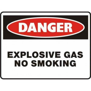 PR29 Signs of Safety Danger Explosive Gas No Smoking Sign