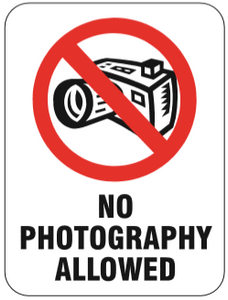 PR61P Signs of Safety Prohibition No Photography Permitted Sign