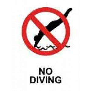 PR64P Signs of Safety Prohibition No Diving Sign