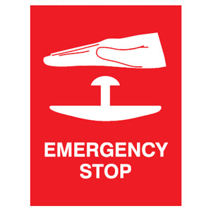 EM92 Signs of Safety Emergency Stop signs