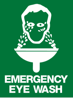 EM40 Signs of safety Emergency Eye Wash sign