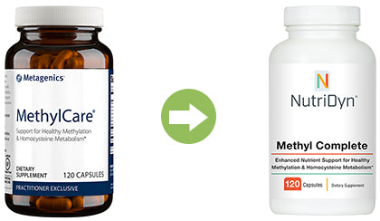 Metagenics Methyl Care replacement product Methyl Complete by Nutri-Dyn