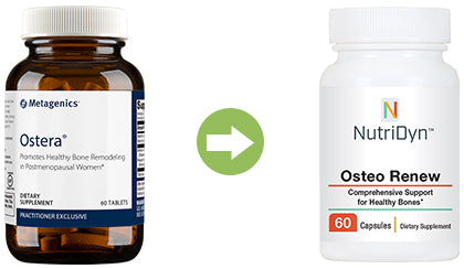 Ostera replacement product comparison Osteo Renew by Nutri-Dyn