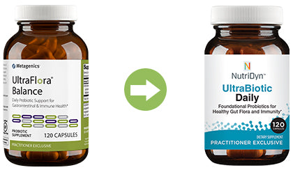 UltraFlora Balance replacement UltraBiotic Daily by Nutri-Dyn comparison