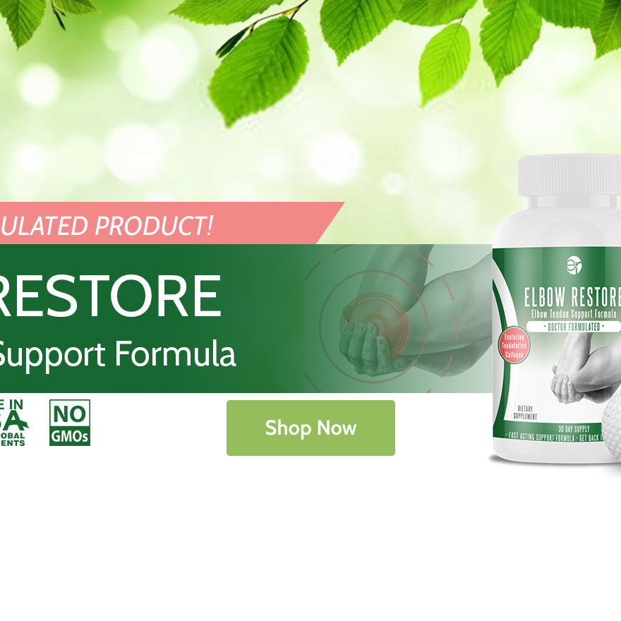 Elbow Restore 180 capsules: Elbow Tendon Support Supplement Formula