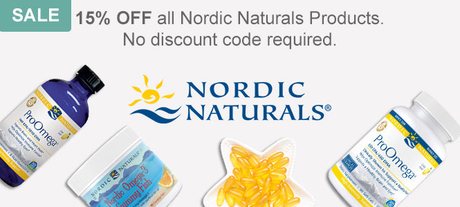 Get 15% Off all Nordic Naturals vitamins and supplements. No discount code required.