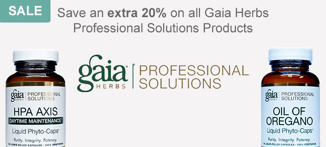Save an extra 20% on all Gaia Herbs Professional Solutions Products