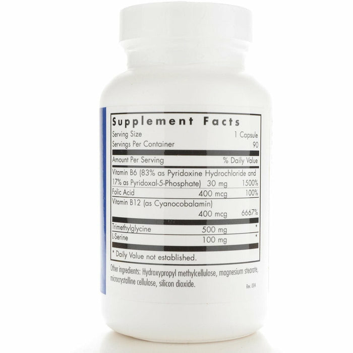 HomoCysteine Metabolism 90 caps by Allergy Research Group Supplement Facts