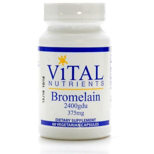 Vital Nutrients, Bromelain 375 mg 60 caps