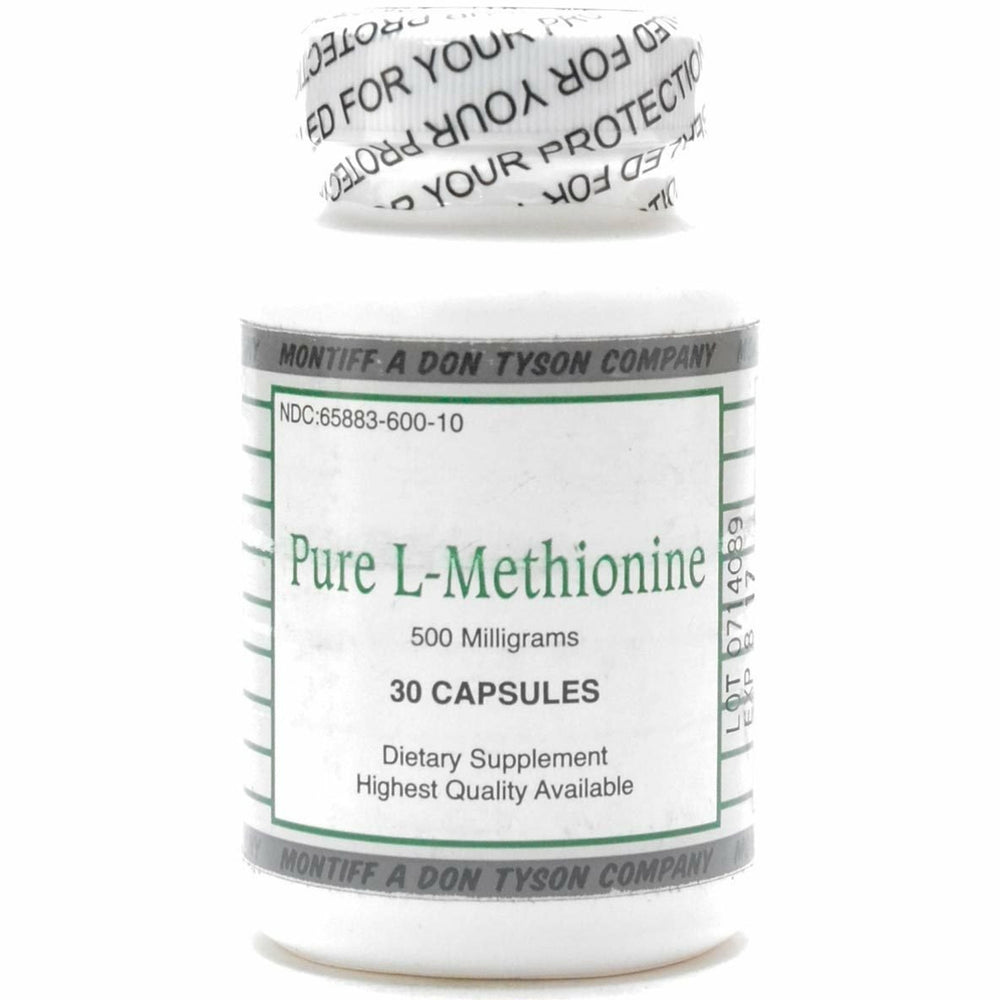 Pure L-Methionine 500 mg 30 caps