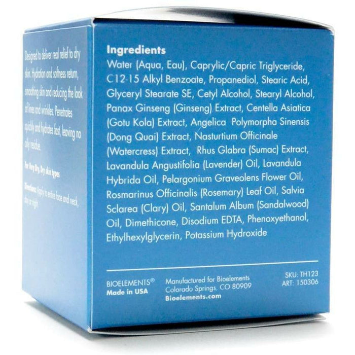 Crucial Moisture 2.5 oz by Bioelements Inc. Ingredients