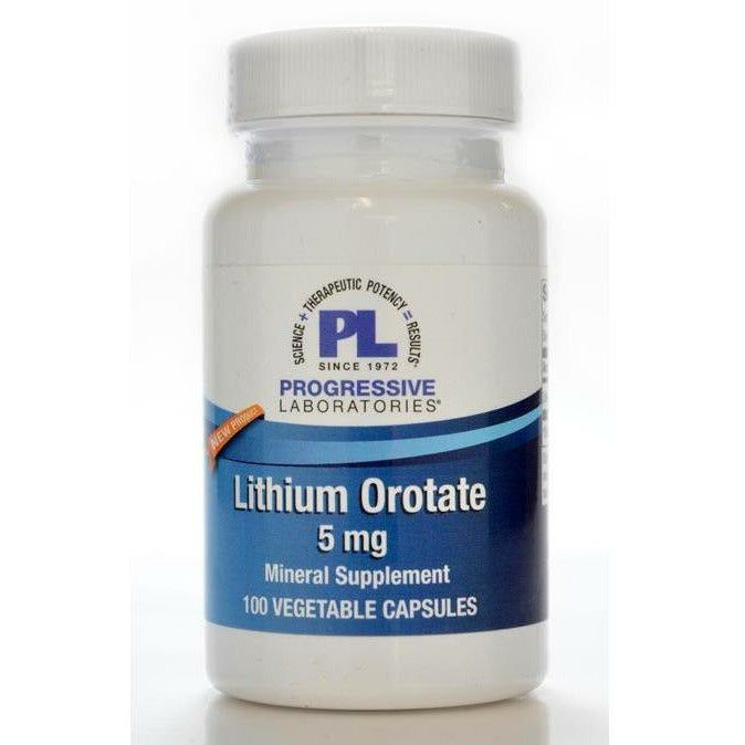 Lithium Orotate 5mg 100 vcaps by Progressive Labs