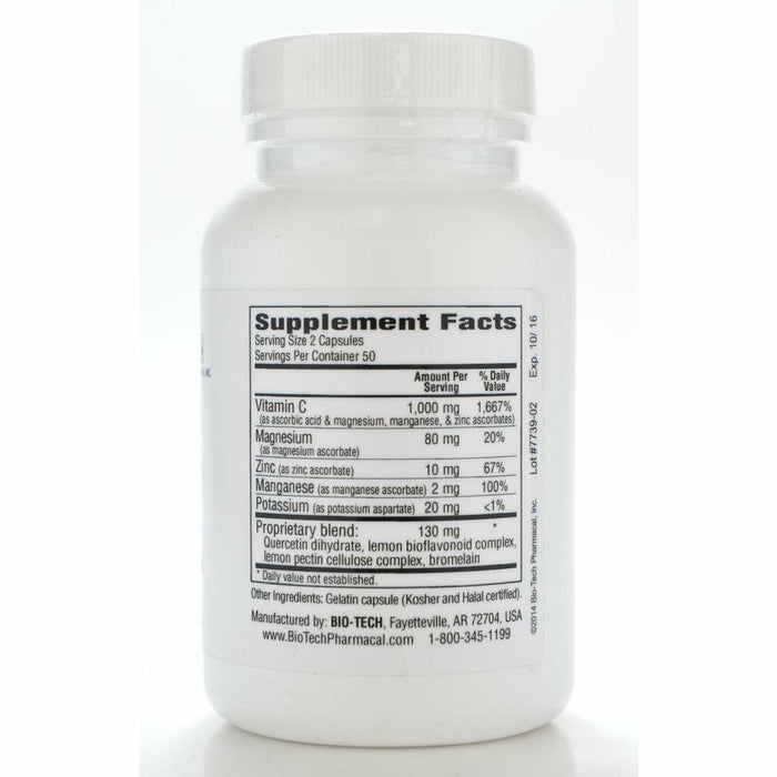 C-Max 1000 100 caps by Bio-Tech Supplement Facts