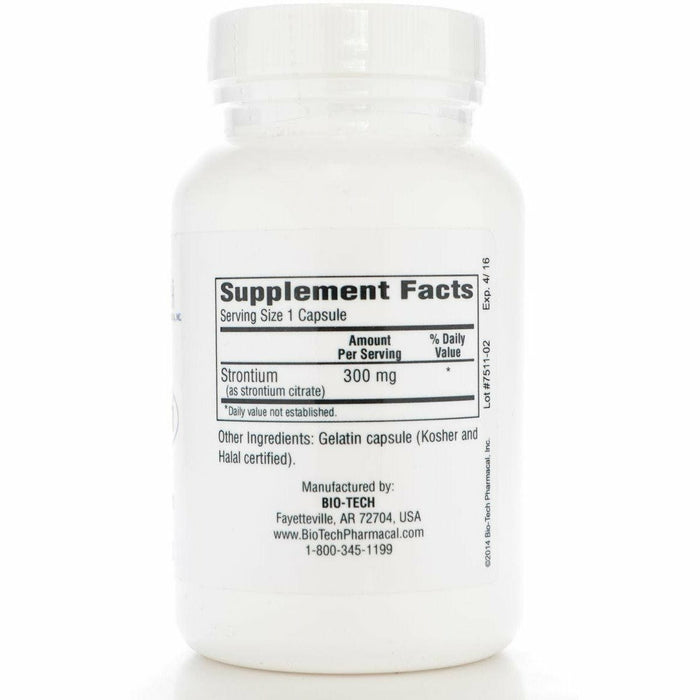 Strontium Citrate 300 mg 100 caps by Bio-Tech