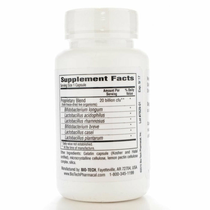 Lacto-Pectin 100 caps by Bio-Tech Supplement Facts