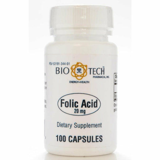 Bio-Tech, Folic Acid 20 mg 100 caps