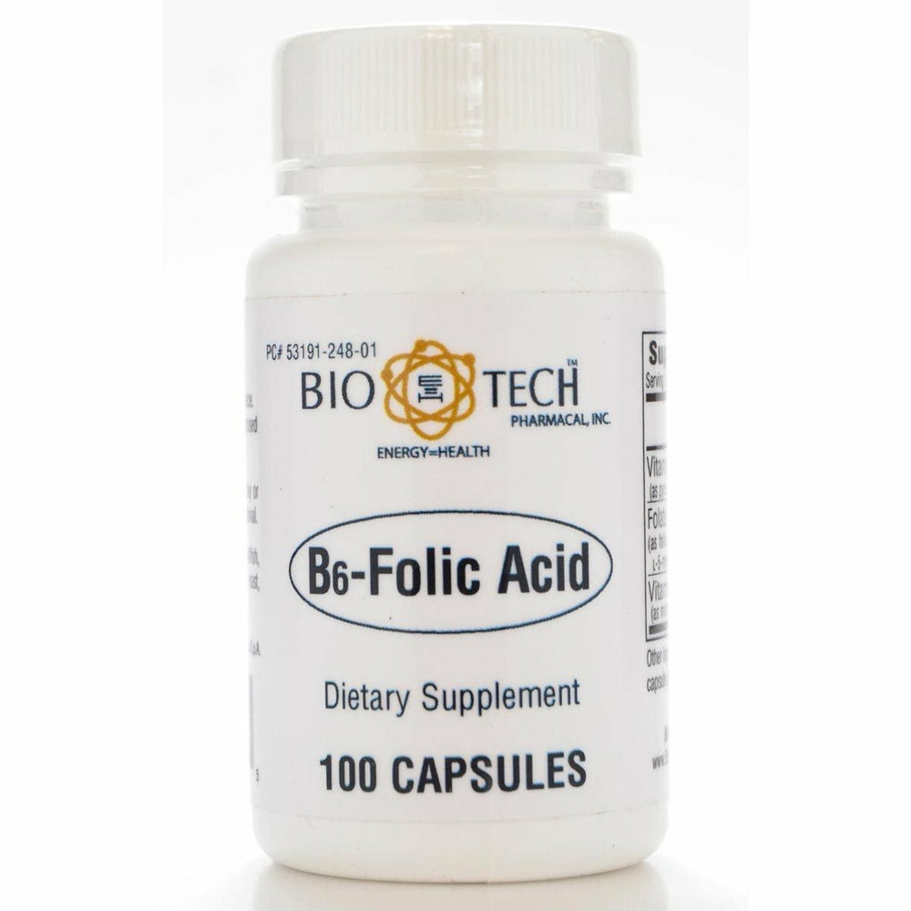 Bio-Tech, B6-Folic Acid 100 caps