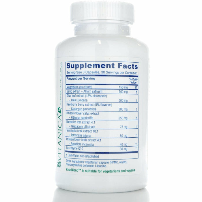 VasoBlend 90 vcaps by Vitanica Supplement Facts
