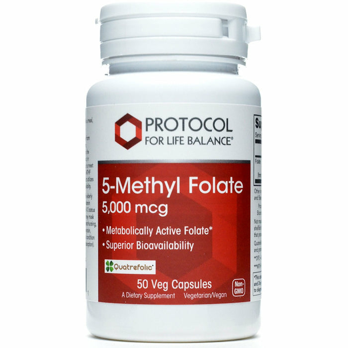 Protocol, 5-Methyl Folate 5,000 mcg 50 vcaps