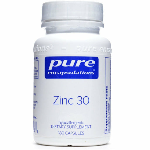 Pure Encapsulations, Zinc 30 180 vcaps