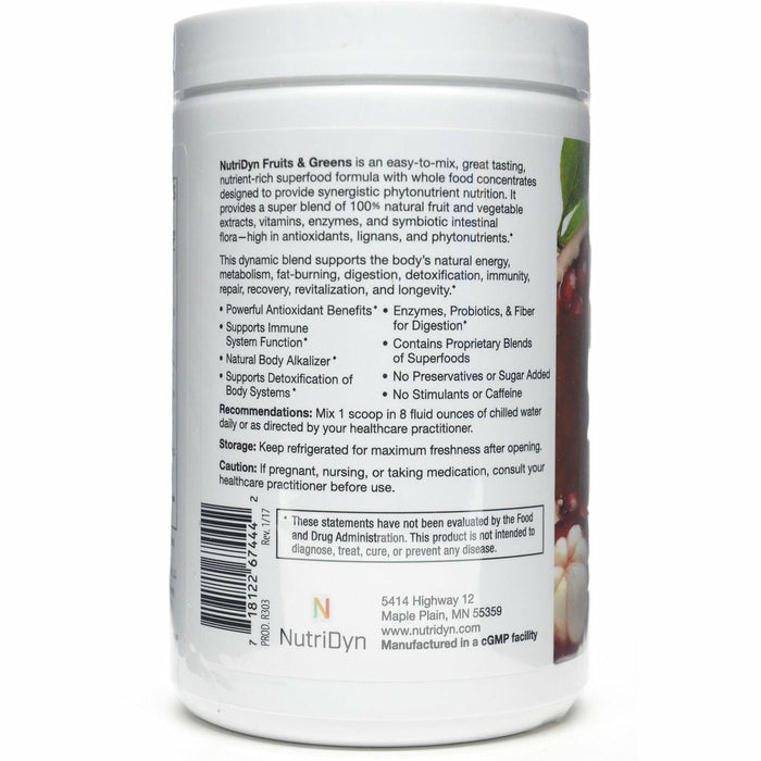 Fruits & Greens Chocolate by Nutri-Dyn