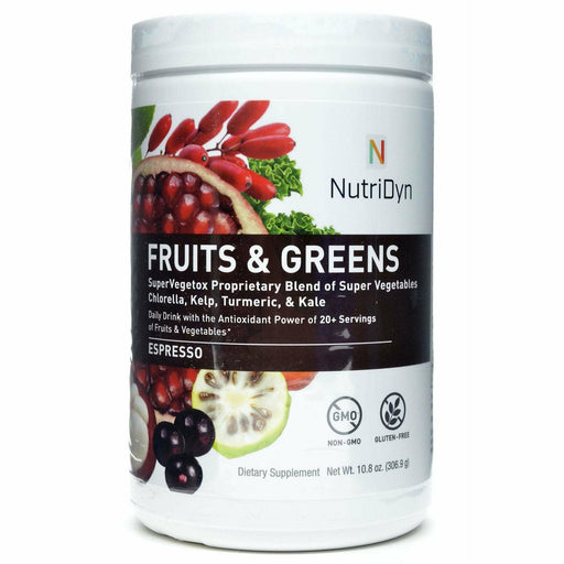 Nutri-Dyn, Fruits & Greens Natural Espresso (formerly Dynamic Fruits & Greens)