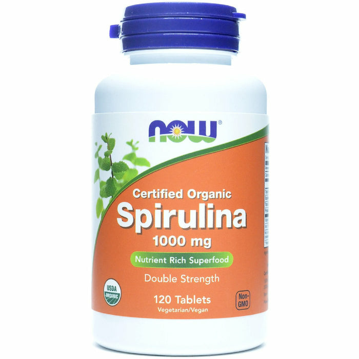 NOW, Organic Spirulina 1000 mg 120 tabs