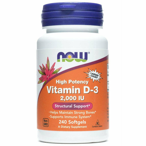 NOW, Vitamin D-3 2000 IU 240 softgels