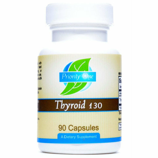 Priority One Vitamins, Thyroid 130 mg 90 caps