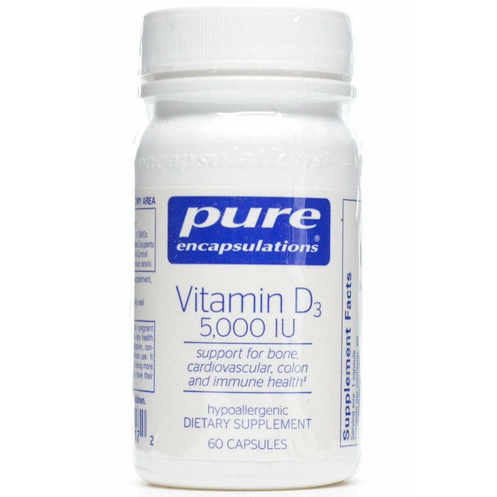 Pure Encapsulations, Vitamin D3 5000 IU 60 vcaps