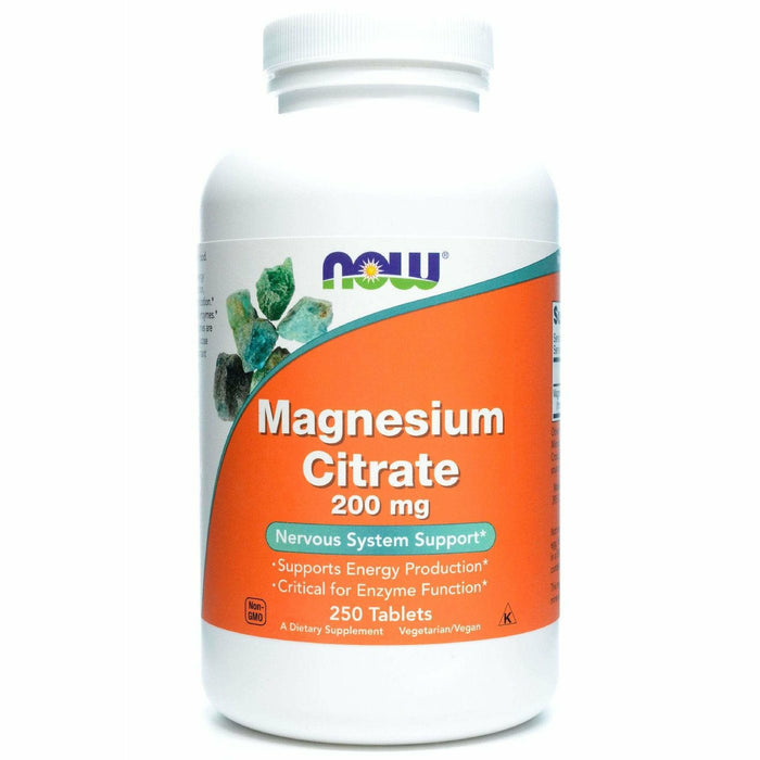 NOW, Magnesium Citrate 200 mg 250 tabs