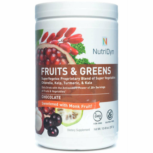 Nutri-Dyn, Fruits & Greens Chocolate With Monk Fruit