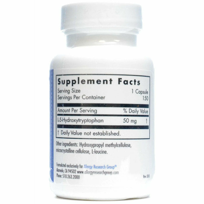 5-HTP 50 mg 150 caps by Allergy Research Group Supplement Facts