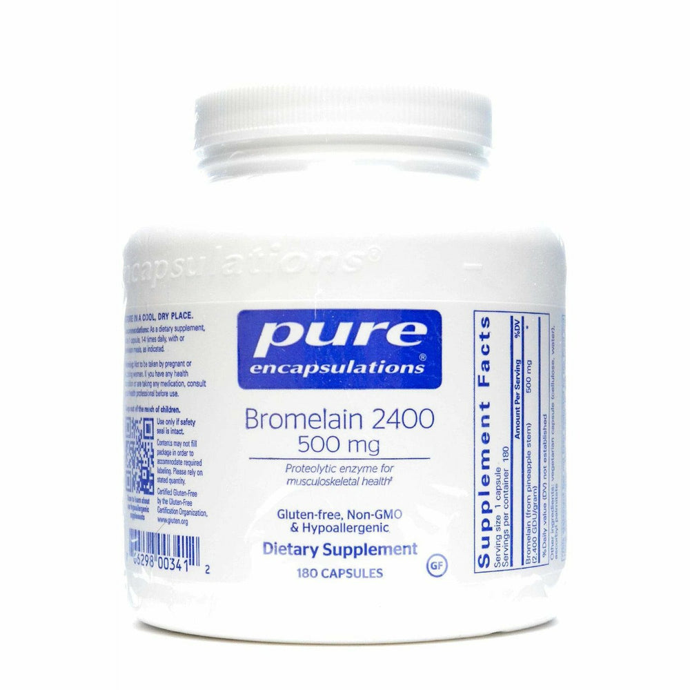 Pure Encapsulations, Bromelain 2400 500 mg 180 vcaps
