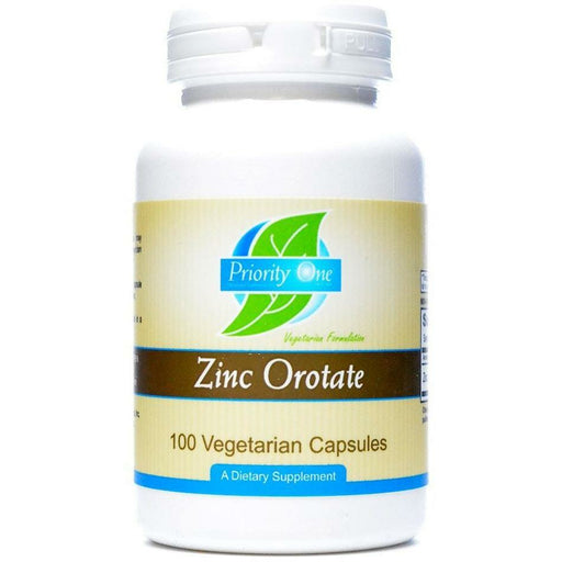 Priority One Vitamins, Zinc Orotate 100 caps
