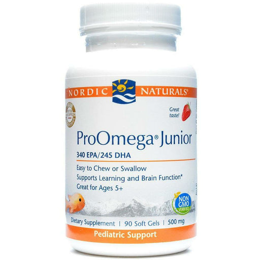 Nordic Naturals, ProOmega Junior Strawberry 500mg 90 gel