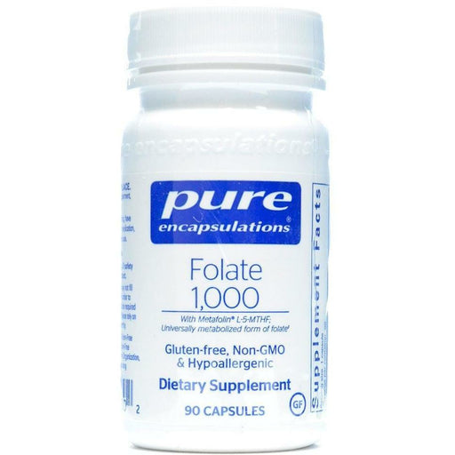 Pure Encapsulations, Folate 1000 90 caps