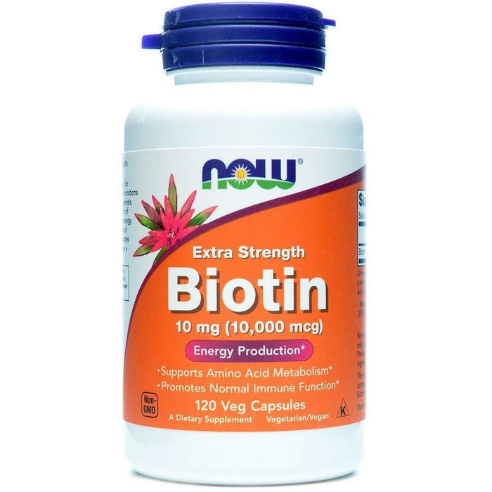 Now, Biotin Extra Strength 10 mg 120 vcaps