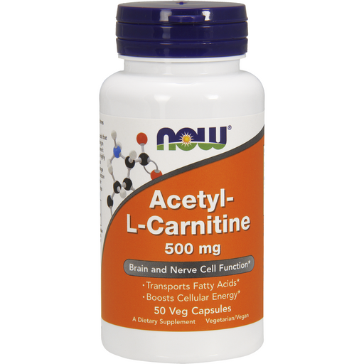 NOW, Acetyl-L Carnitine 500 mg 50 vcaps