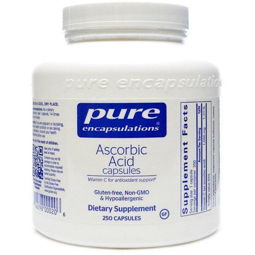 Pure Encapsulations, Ascorbic Acid 250 caps