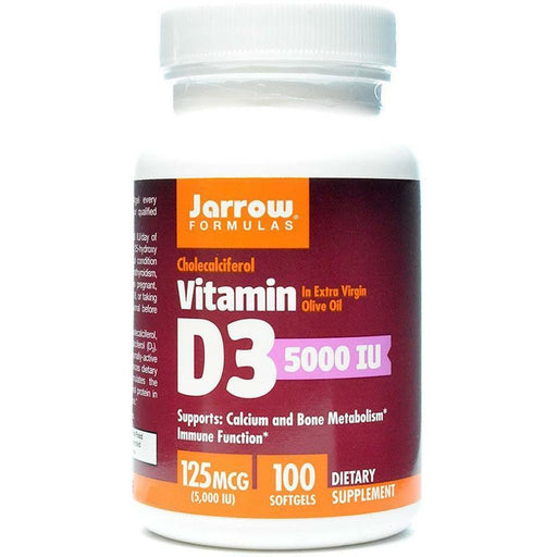Jarrow Formulas, Vitamin D3 5000 IU 100 softgels