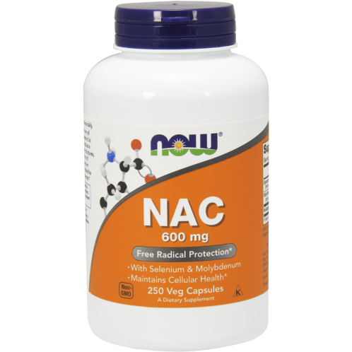 NOW, NAC 600 mg 250 vcaps
