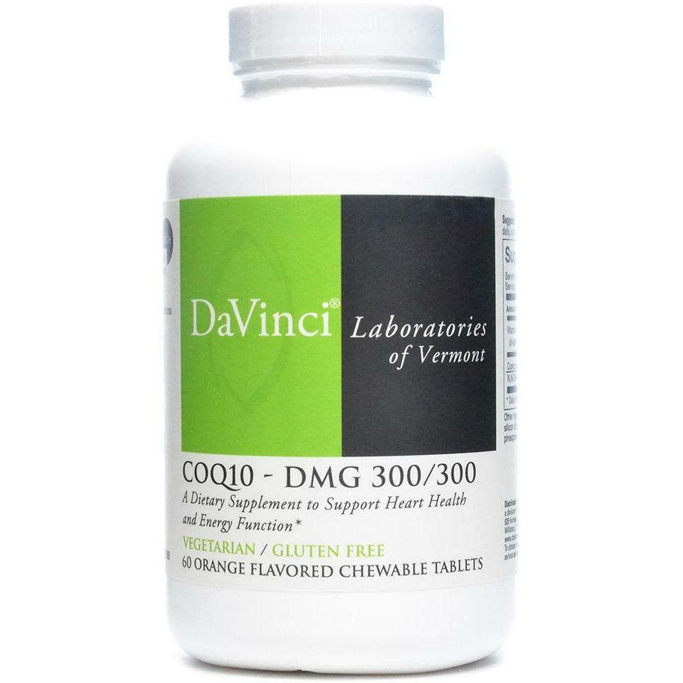 Davinci Labs, CoQ10 - DMG 300/300 Orange 60 chew