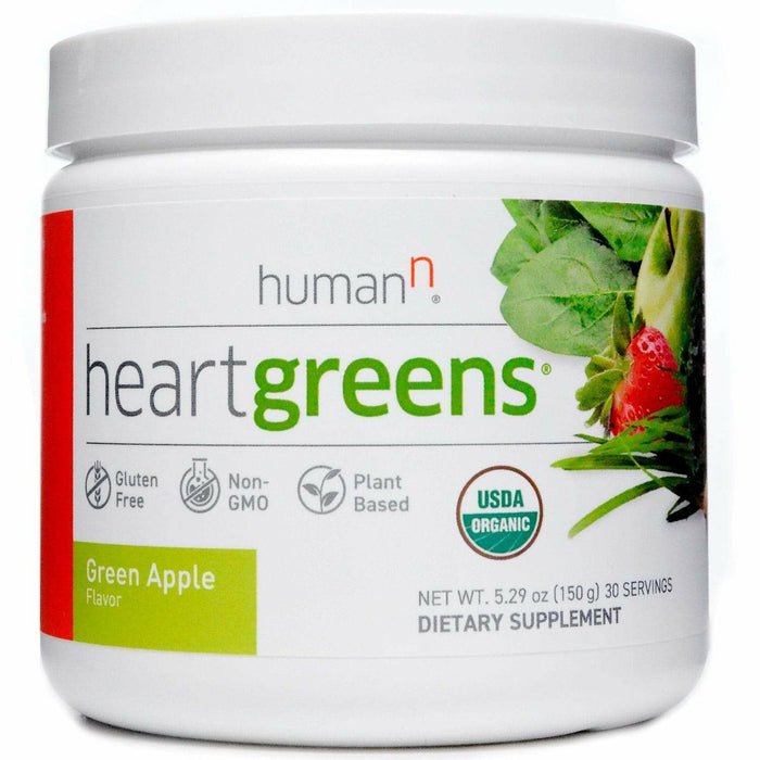 HumanN, HeartGreens Green Apple 5.29 oz (30 Servings)