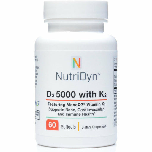 Nutri-Dyn, D3 5000 With K2 60 Softgels