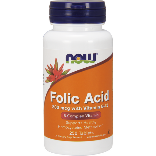 NOW, Folic Acid 800 mcg 250 tabs